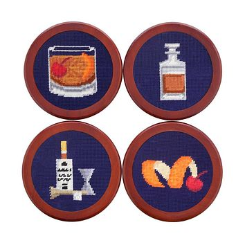 Make an Old Fashioned Needlepoint Coasters by Smathers & Branson