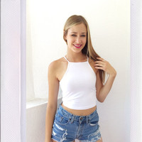 Little Racer Top - White