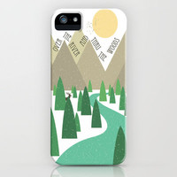 Over the River and Thru the Woods with Filiskun iPhone Case by Caleb Troy | Society6