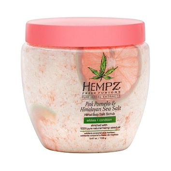 Hempz Pink Pomelo Himalayan Sea Salt Herbal Body Salt Scrub 5.47 Oz