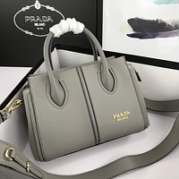 prada newest popular women leather handbag tote crossbody shoulder bag satchel 73