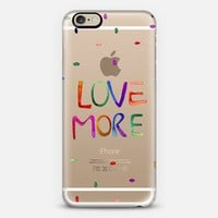 LOVE More iPhone 6 case by Cayena Blanca   Casetify