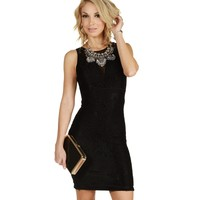 Promo-black One In A Million Lace Dress
