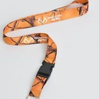 Orange Camo Realtree AP Blaze Camo Lanyard With Detachable Key Ring New