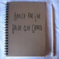 Advice for the Bride and Groom- 5 x 7 journal