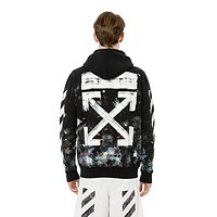 OFFWHITE Fashion Casual Pattern Print Hooded Top Sweater Pullover