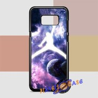Michael Jordan In Galaxy Nebula Samsung Galaxy S8 Plus Case Planetscase.com