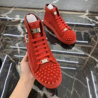 Philipp Plein Red Men Fashion Casual Sneakers Sport Shoes Size 38-44