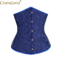 Blue Waist Trainer Woman Vintage Palace Style Body Shaper Shapewear Waist Cincher Lady Body Tummy Control Corset  90117