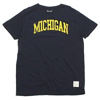 University of Michigan Distressed Arch T-Shirt Navy
