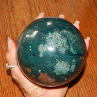 X-LARGE Genuine INDIAN AGATE Sphere - 105mm Indian Agate Orb - Agate Crystal Ball - Metaphysical Crystals - Chakra Stones - Gemstone Sphere