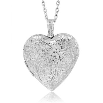 "Beautiful Locket Pendant Necklace Charm 1.5"" With 28"" Chain"