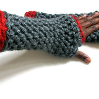 InI Cool Trodding medi Chunky fingerless gloves