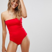PrettyLittleThing Bandeau Swimsuit at asos.com