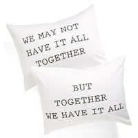 Levtex 'We Have It All' Pillowcase Set