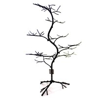 Halloween BLACK GLITTER TWIG TREE Metal Gallerie II Tre73021