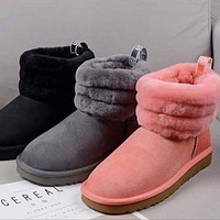 UGG classic hot sale low tube anti-skid plush snow boots ladies boots shoes