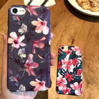 Fashion Flower Print iPhone 6 6s 6Plus 6sPlus 7 7 Plus Phone Cover Case