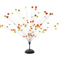 Atomic Ball Sculpture - Orange and Gold - Kinetic - 1950s / 1960s