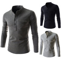 Asian Tunic Collar New Design Men's Slim Polo Tee