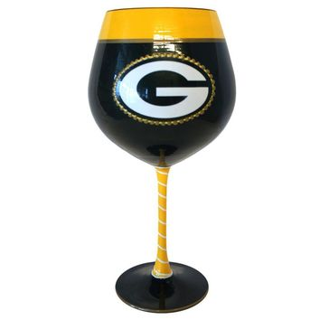 Green Bay Packers NFL Artisan Wine Glass