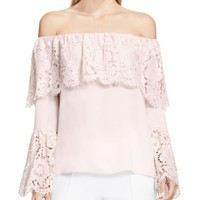 VINCE CAMUTO Lace Off-The-Shoulder Top | Bloomingdales's