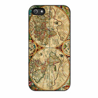 Vintage Old Retro World Map iPhone 5s Case