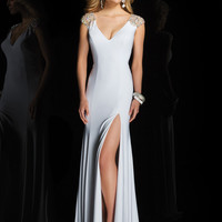 Cap Sleeves With Sheer Back Formal Tony Bowls Evenings Prom Dress TBE11417