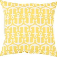 Rain Throw Pillow Yellow, Neutral