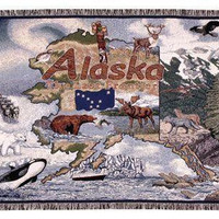 Throw Blanket - State Of Alaska