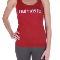 Chewy Lou Designs Namaste Tank - Red
