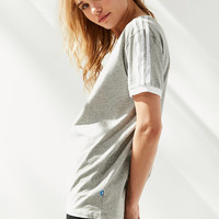 adidas Originals Heathered 3-Stripe Ringer Tee | Urban Outfitters