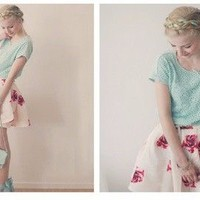 Floral mini skirt by Country Fashion