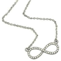 *Crystal Infinity Pendant Necklace