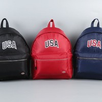Back To School Stylish On Sale Hot Deal College Comfort Embroidery Couple Waterproof Casual Backpack [10687483527]