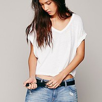 Free People Womens We The Free Keep Me Crop Tee