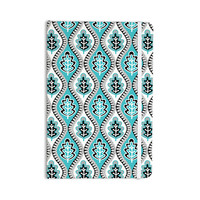 "Jacqueline Milton ""Oak Leaf - Turquoise"" Floral Blue Everything Notebook"