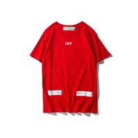 Cheap Women's and men's OFF WHITE t shirt for sale 501965868-016