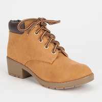 Soda Equity Girls Boots Chestnut  In Sizes
