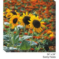 West Of The Wind Designs 79002-24 Sunny Faces: 24 x 24 All Weather Outdoor Photograph Canvas Giclee