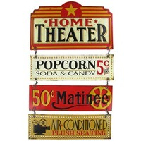 Home Theater Linked Embossed Tin Sign | Shop Hobby Lobby
