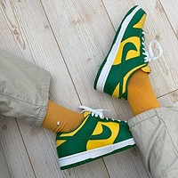 "Nike Dunk Low ""Brazil"" low-top flat skateboard shoes"