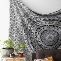 Bohemian Boutique Magical Thinking Floral Elephant Tapestry