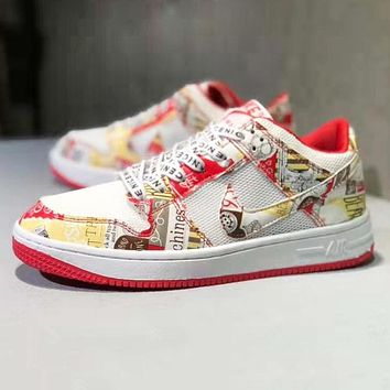 NIKE Air Force 1 Newest Fashion Women Men Casual Sport Shoes Sneakers Red