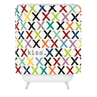 Sharon Turner Kiss Shower Curtain