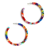 Multi-Color Rainbow Acrylic Acetate Earrings