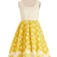ModCloth Long Tank top (2 thick straps) Fit & Flare Frockin' on Sunshine Dress