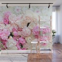 summer peonies Wall Mural by sylviacookphotography