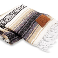 Give Perf Khaki Mexican Blanket