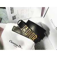 Dior tide brand female metal letter belt belt
